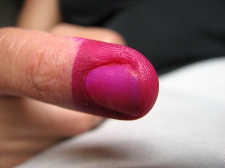 הצבעה, אצבע