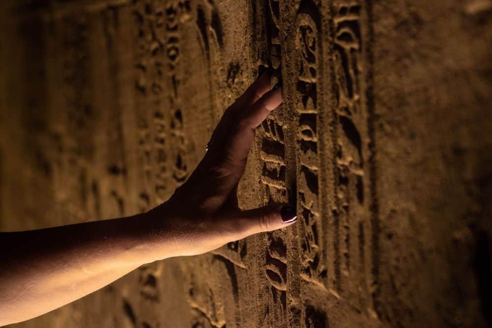 יד, אצבעות, היירוגליפים, חרטומים, קיר