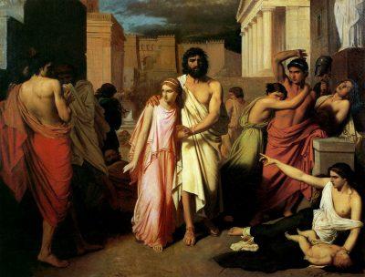 אדיפוס ואנטיגונה, המגיפה של תביי, שרל ז'לאבר
