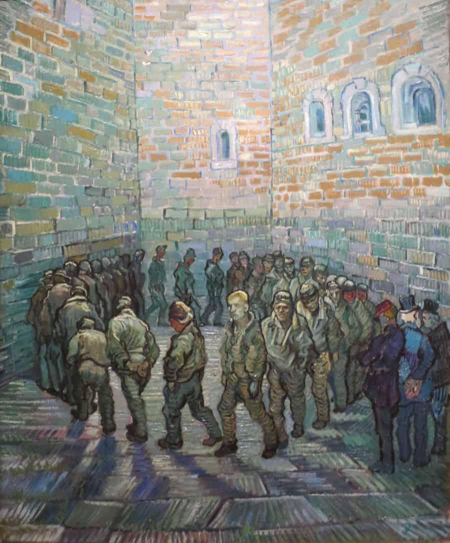 אסירים בפעילות גופנית, ואן גוך