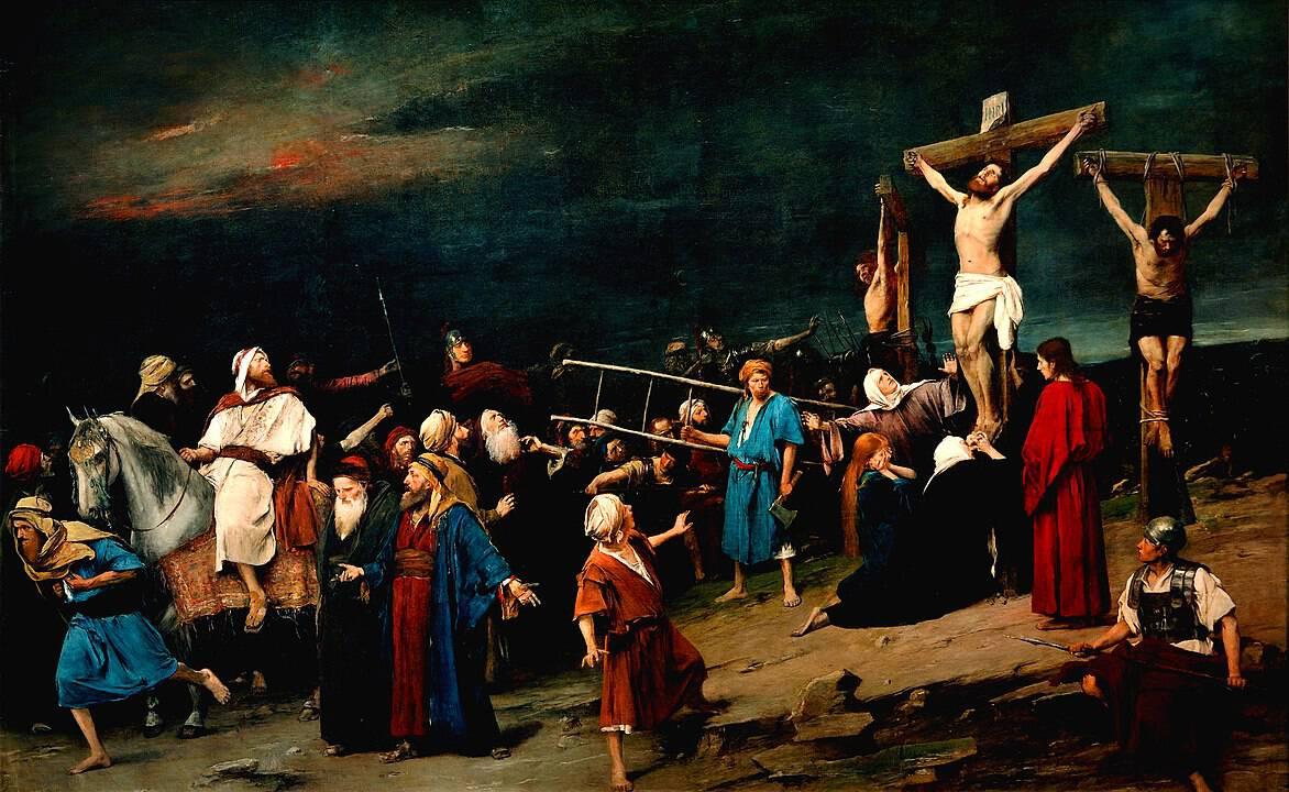 גולגותה, ישו והגנבים, מיחאי מונקאץ'
