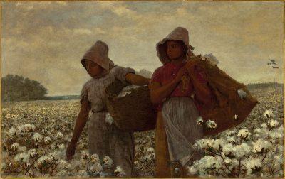 קוטפות הכותנה, וינסלו הומר, עבדות