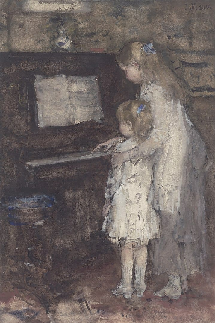 יקוב מריס, שתי ילדות ליד פסנתר