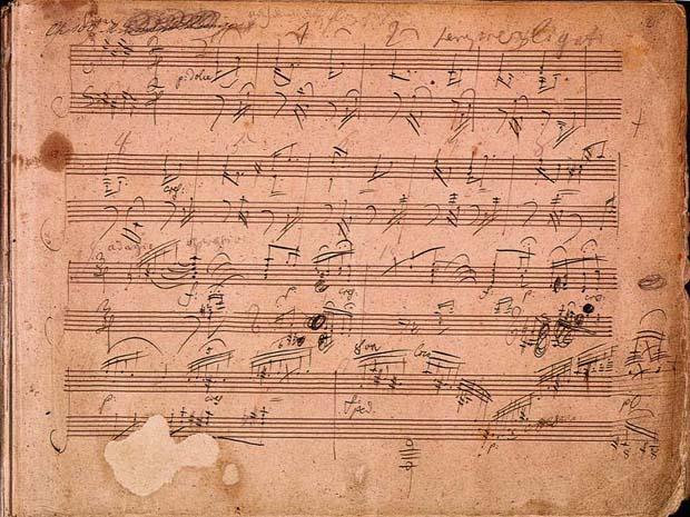בטהובן, כתב יד