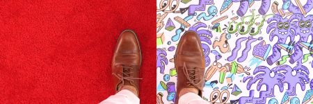 נעליים, שטיח, פה ושם