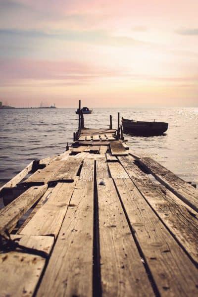 סלוניקי, מזח, ים, שקיעה