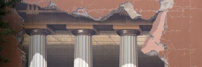 ציור קיר, עמודים דוריים, Trompe-l'œil