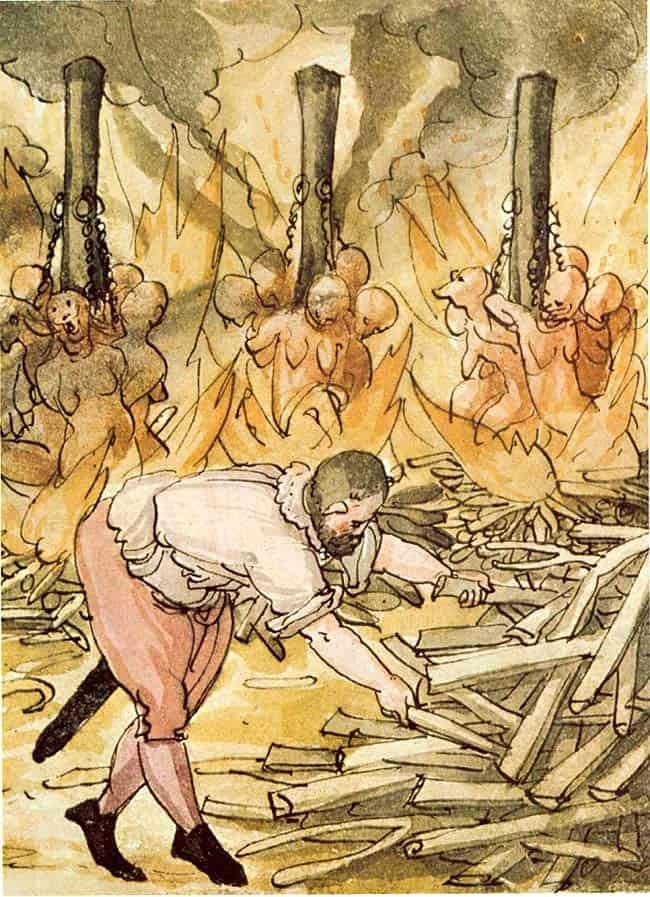 מכשפות, מרכז אירופה, שריפת מכשפות