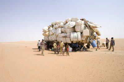 פליטים, מהגרים, אפריקה, צ'אד, לוב