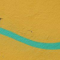 ציור קיר, ציפור, קו ירוק