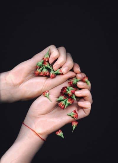 אצבעות, כפות ידיים, פרחים