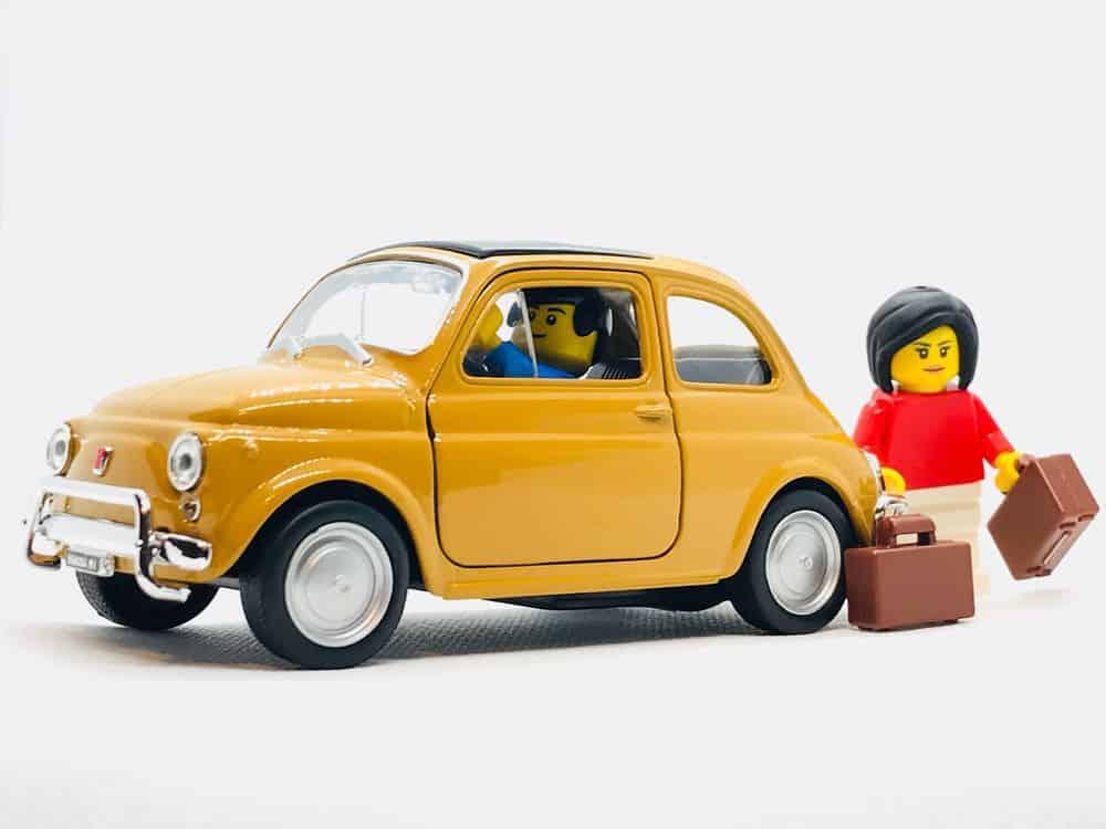 פליימוביל, מכונית, מזוודות