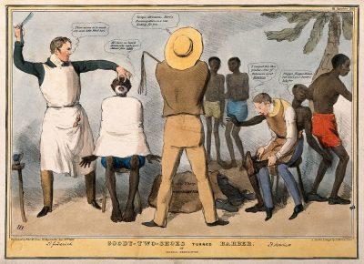 מתנגדי עבדות, עבדים, גילוח, שחורים