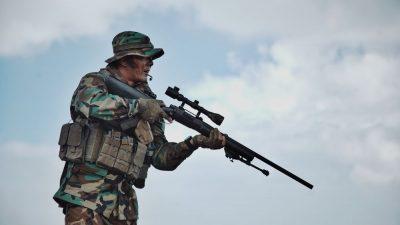 חייל, צלף, רובה צלפים
