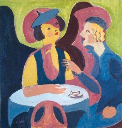 שתי גברות בבית קפה, ארנסט לודוויג קירכנר