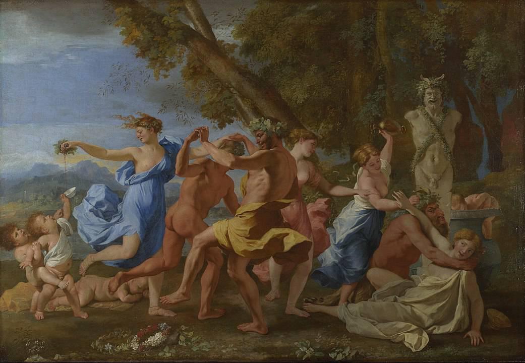 בכחוס, בכחנליה לפני פסל פאן, ניקולה פוסן