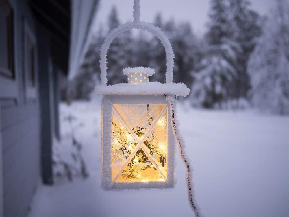 מנורה, שלג, פינלנד