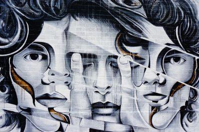 גרפיטי, אישה, פנים