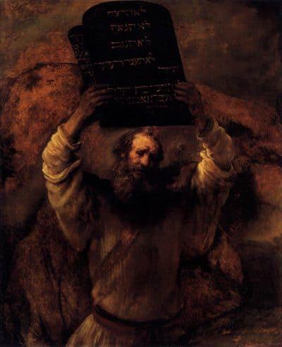 משה, לוחות הברית, רמברנדט