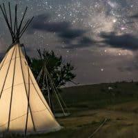 טיפי, שביל החלב, מאדים, אוהל אינדיאני, ילידים אמריקנים