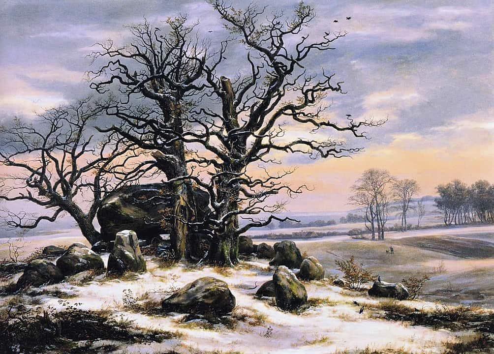 קבר מגליתי בחורף, יוהן כריסטיאן דאל