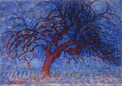ערב, עץ אדום, פיט מונדריאן