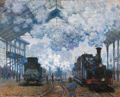 קלוד מונה, תחנת הרכבת סן לזאר, הגעת הרכבת