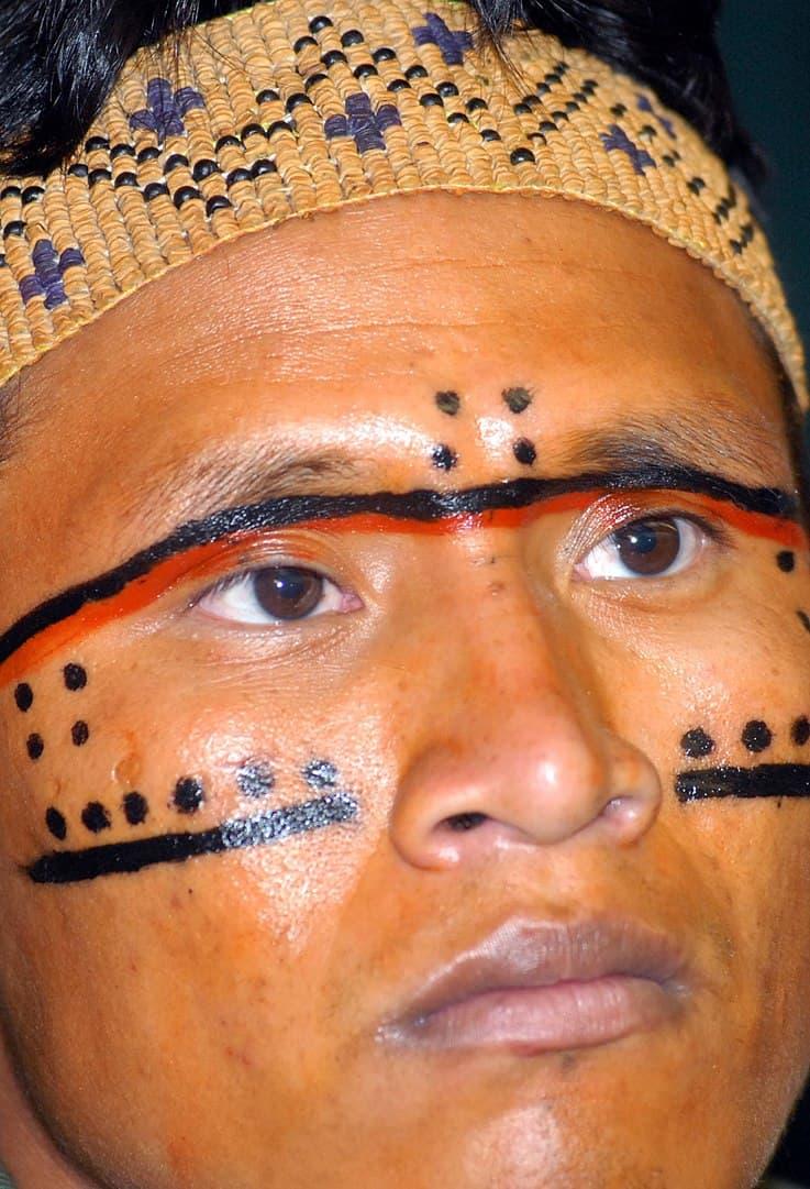 יאנומאמי, גבר, צבעי פנים