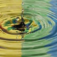 טיפת מים, טבעות, צבעים