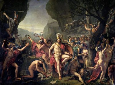 לאונידס, קרב תרמופיליי, ז'אק-לואי דויד