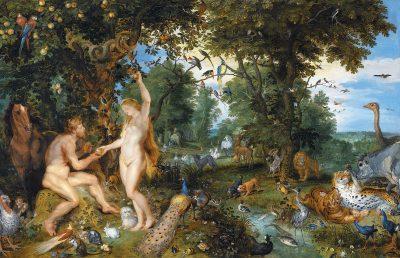 החטא הקדמון, אדם וחוה, יאן ברויגל, פיטר פול רובנס