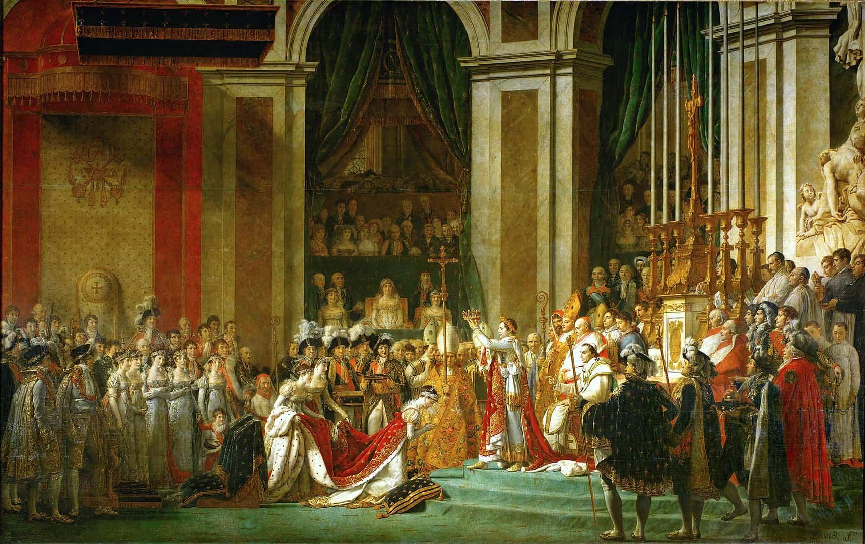 הכתרת נפוליאון, ז'אק-לואי דויד