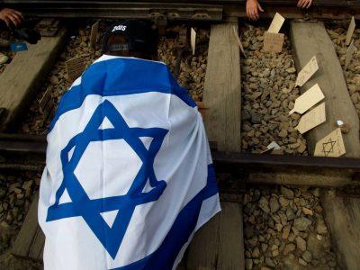 מצעד החיים, דגל ישראל, אושוויץ
