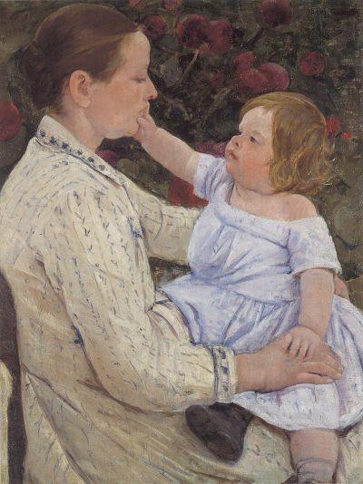 ליטוף, תינוקת ואם, מארי קסאט