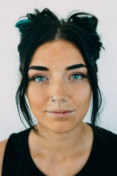 פנים, אישה, עיניים, סימטריה