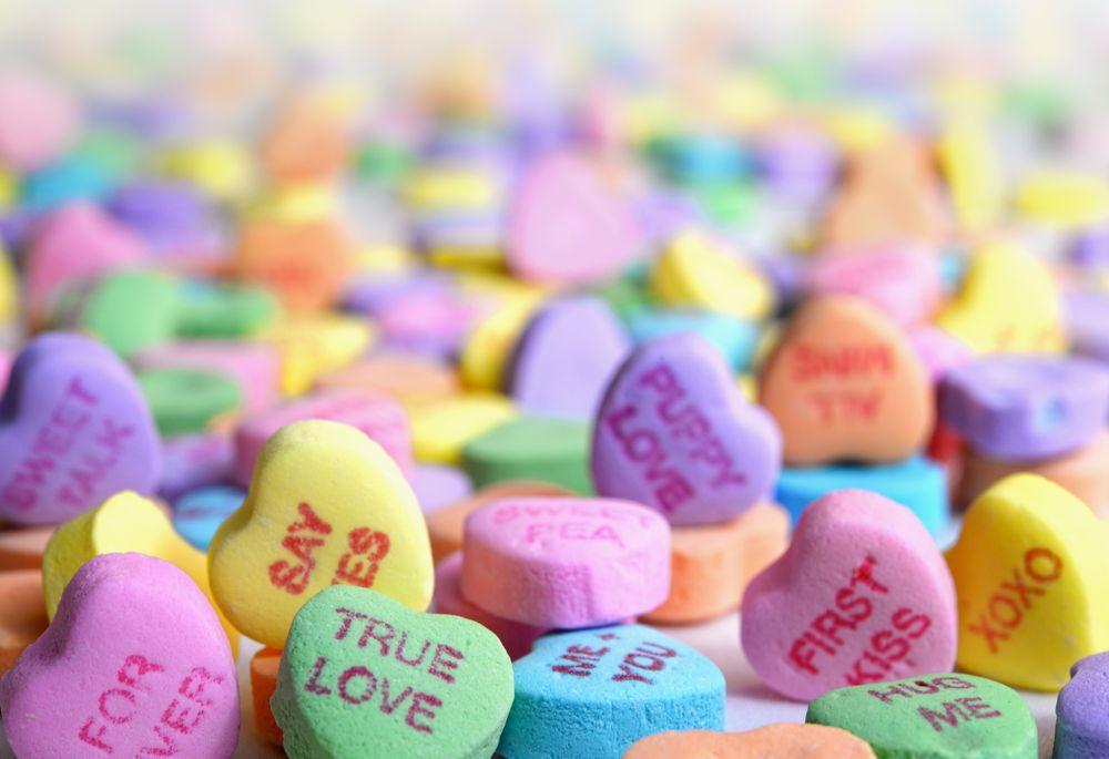 אהבה, לבבות, סוכריות