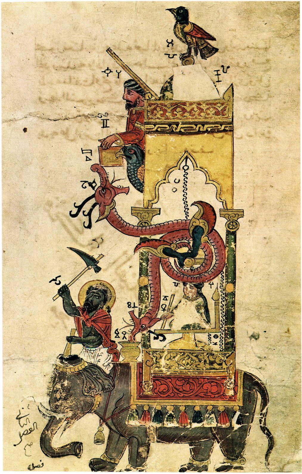 שעון פיל, שעון, אל-ג'זארי