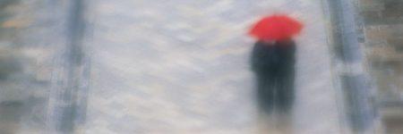 זוג, מטריה, גשם, גשר
