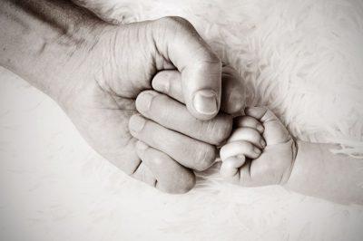 ידיים, תינוק, הורה