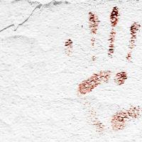 כף יד, טביעת יד, קיר