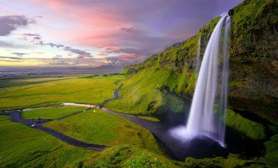 מפל מים, איסלנד