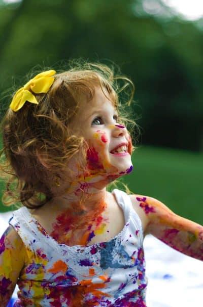 ילדה, צבעים, גופייה