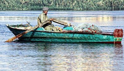 נילוס, דיג, סירה, שיט, מצרים