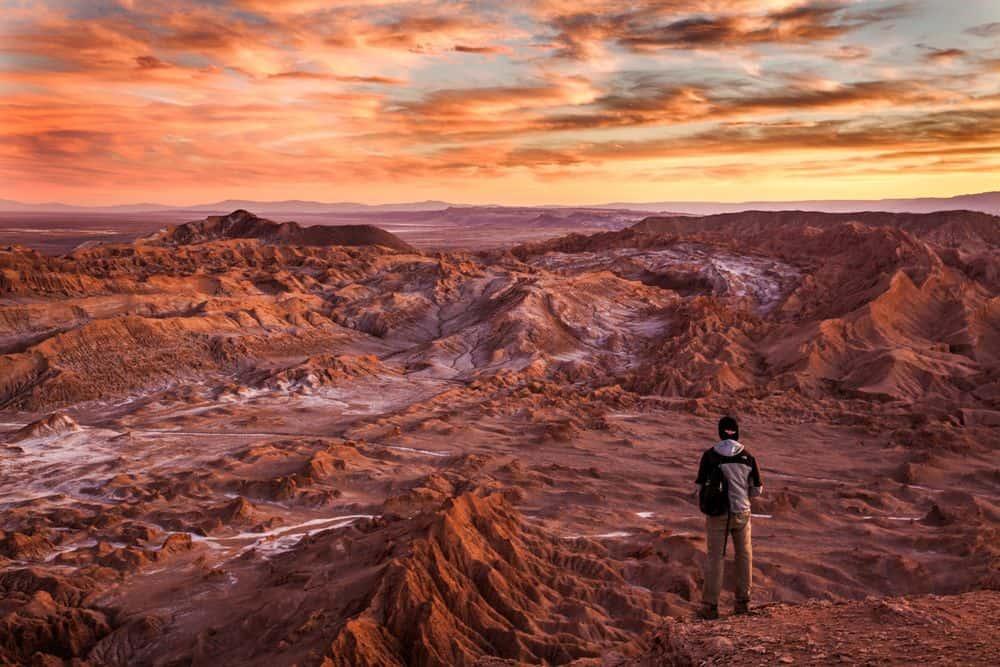 מאדים, קניון, שקיעה