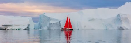 מפרש אדום, קרח, קרחונים, גרינלנד