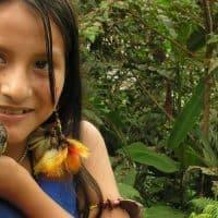 שואר, ג'ונגל, אקוודור, ילדה, תוכי