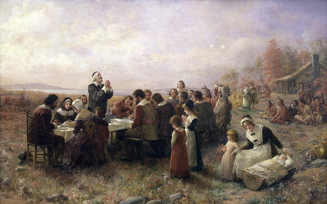 חג ההודיה הראשון בפלימות', חג ההודיה