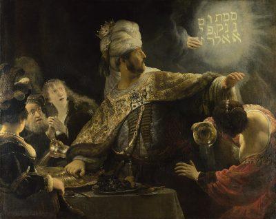 רמברנדט, משתה בלשצאר