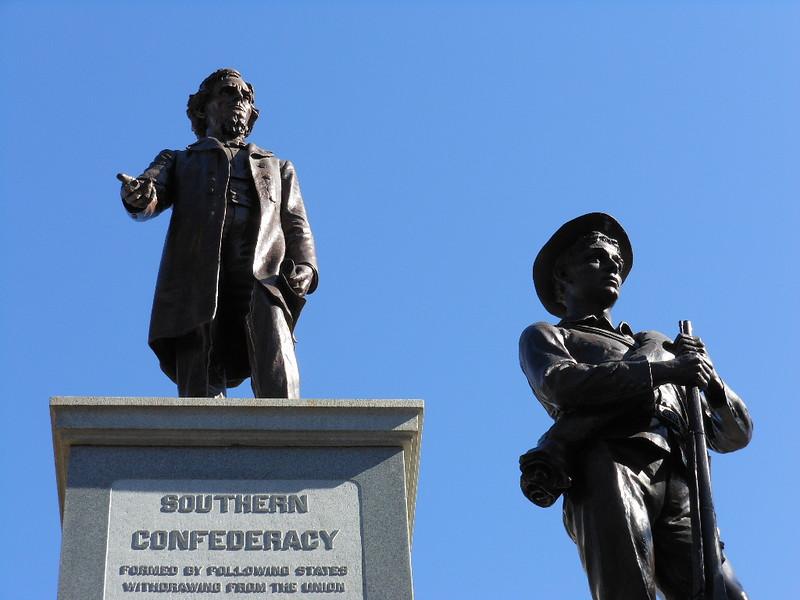 קונפדרציה, מלחמת האזרחים, דרום, הנצחה, פסל