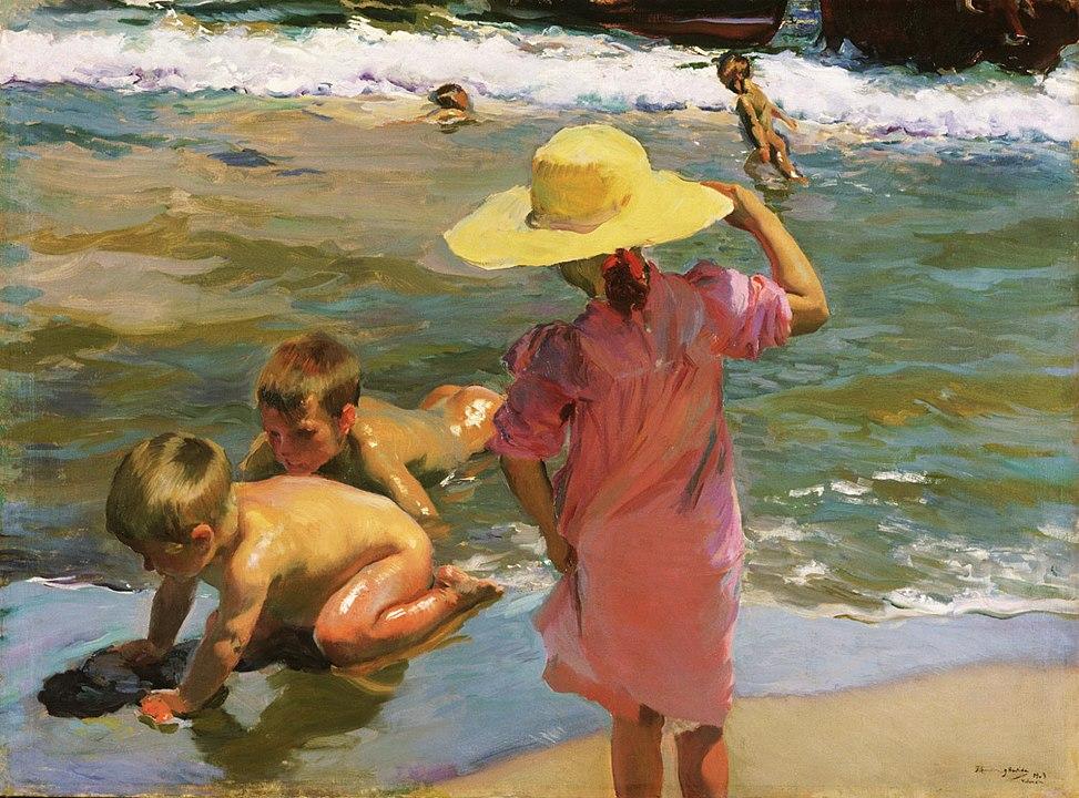 חואקין סורויה, ילדים בחוף הים